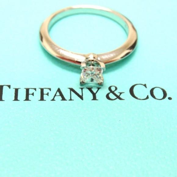 5952389da Tiffany & Co. Jewelry | Tiffany Co Diamond Platinum Engagement Ring ...